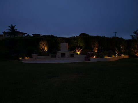 Agoura Hills Landscape Lighting Patio Area