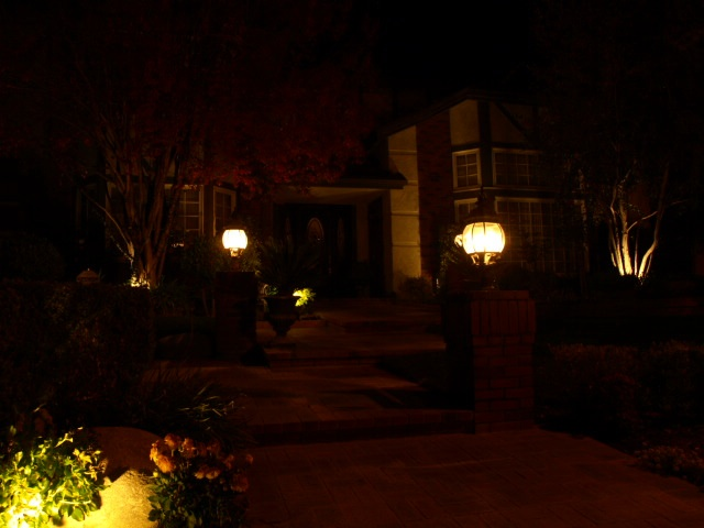 Agoura Hills Landscape Lighting Entrance